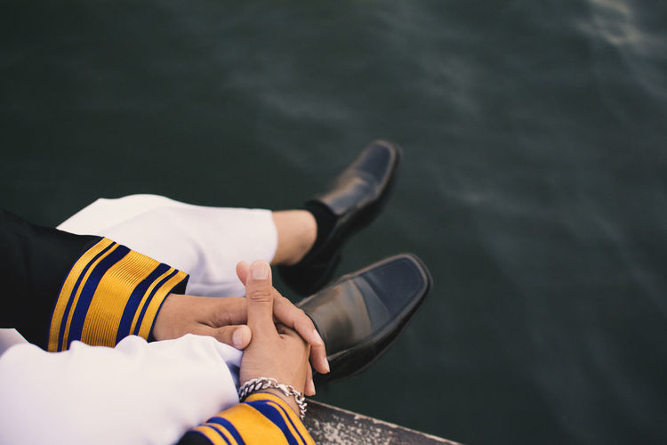 Casual Shoes Close-up Day Feet Glad Graduate Lifestyles Men One Person Out Of The Box Outdoors People Real People Water