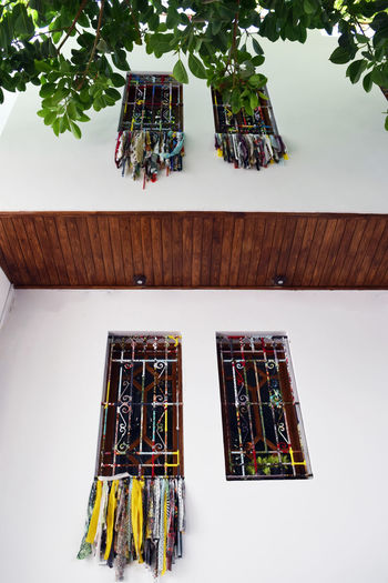 Beautiful Windows! High Angle View No People Indoors  Plant Hanging Decoration Choice Variation Art And Craft Publication Nature Potted Plant Wood - Material Arrangement Day Still Life Multi Colored Moroccan Craft Tissue Windows Metal Window Grill EyeEmNewHere