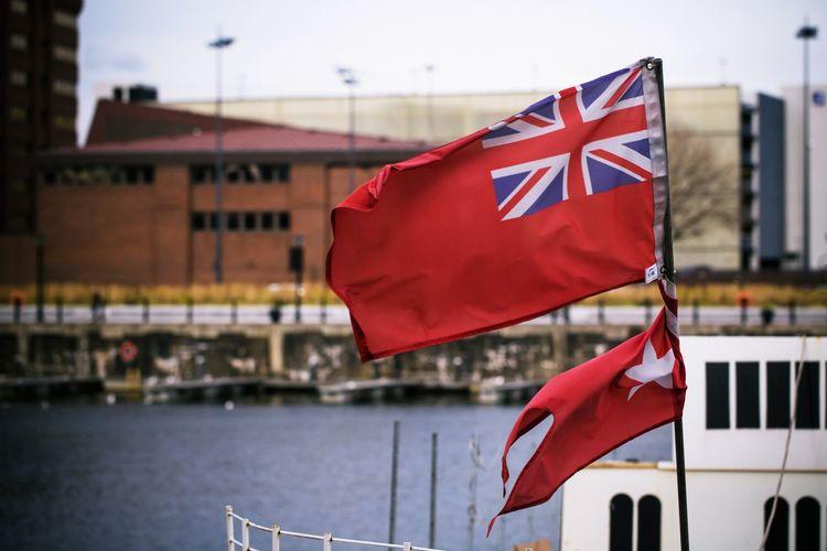 Flags Against Sky