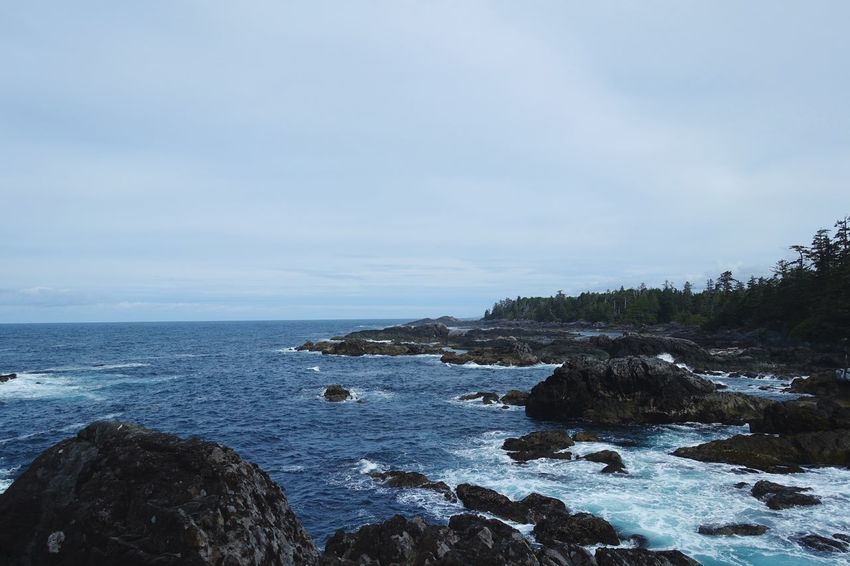 Pacific Rim National Park Ucluelet Vancouver Island Canada Road Tripping Abventure Exploring Travel Clouds Wild Nature Forest Sea Rock