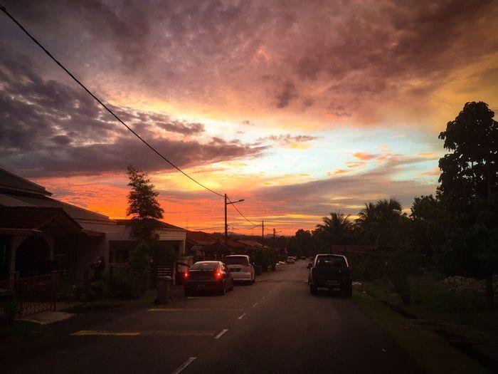 sunset at my