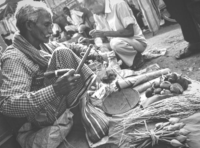 Occupation Outdoors Working Day Sitting Market Vendor Selling Street Streetphotography B&w India Festival Shopping Street EyeEm Edited AdobeLightroom Photography One Person