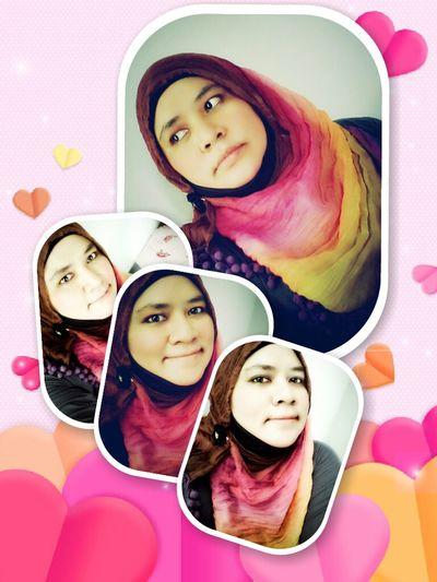 Me Myself And I Selfie Jummah Mubarak Indonesian Hijabers