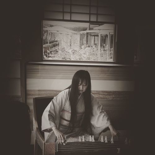 Japanese  Music Musician Koto Performance Beautiful Blackandwhite Black And White EyeEm Best Shots Showcase April