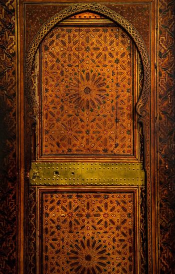 Mosque Door Pattern Door Backgrounds Architecture Entrance Built Structure Design