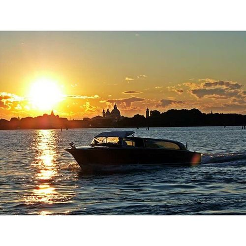 Sunset Sea Travel Sunlight Sun Water Nautical Vessel Beauty In Nature Outdoors Sky Vacations Scenics No People Nature Day Venezia