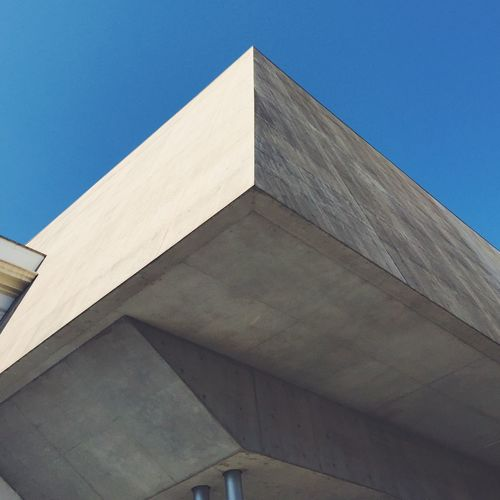 Maxxi. Building Exterior Architecture Built Structure Low Angle View Clear Sky Blue Sky No People Outdoors Sunlight Day