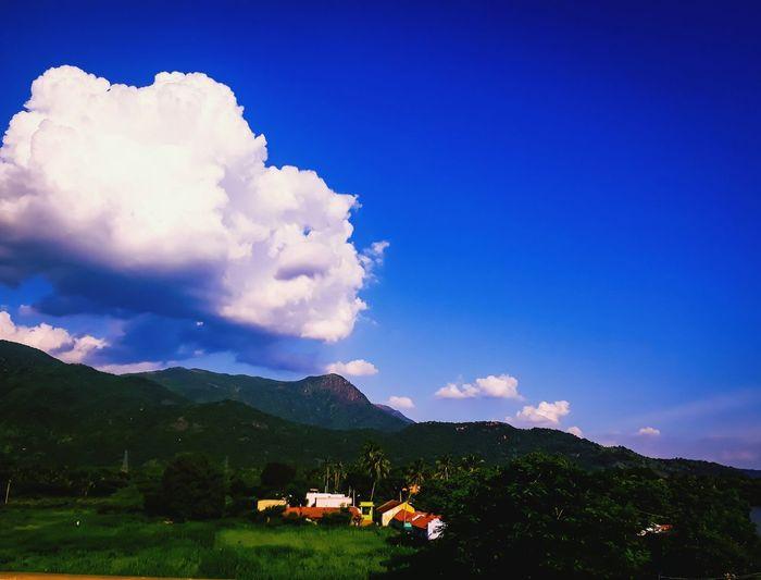 Mountain Sky Cloud - Sky Mountain Range Blue Outdoors Tree No People Landscape Night Nature Tea Crop