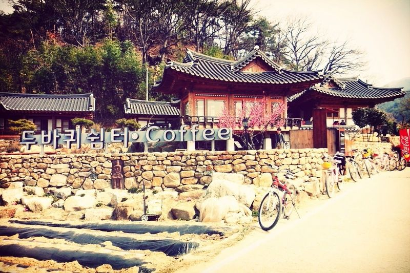 The bike cafe in Goksung, Korea. Korean Traditional Architecture Enjoy Life Trip Photo Street Photography