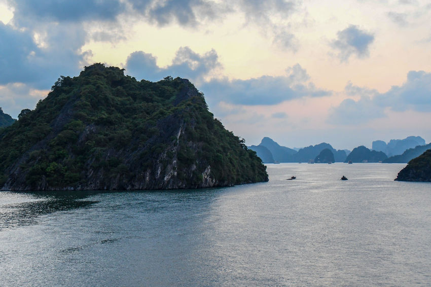 Halong Bay Vietnam Beauty In Nature Cloud - Sky Day Idyllic Mountain Nature No People Non-urban Scene Outdoors Plant Remote Scenics - Nature Sea Sky Tranquil Scene Tranquility Tree Water Waterfront