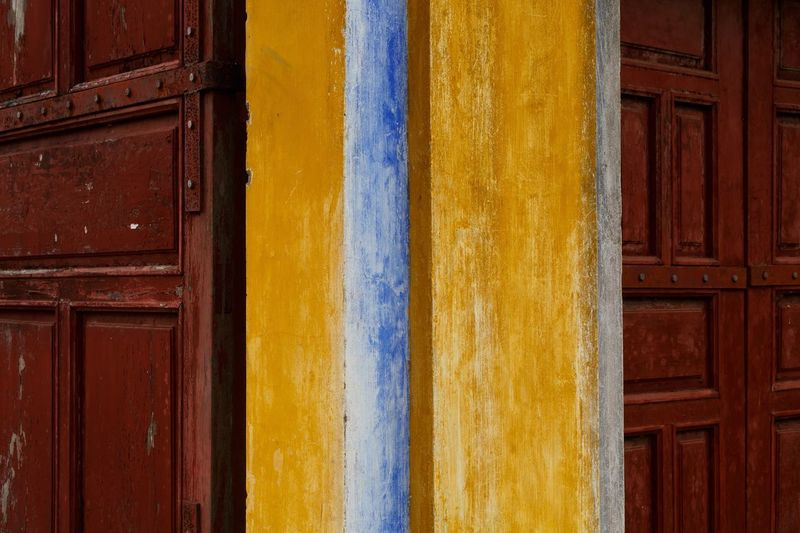 Full frame shot of yellow door