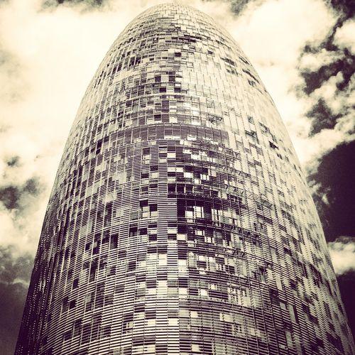 Silvered Agbar Tower