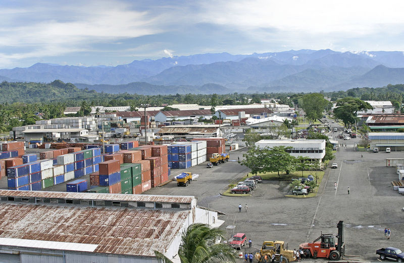 A taste of Papua New Guinea A Taste Of Papua New Guinea Container Port LAE Mountain Range Background Architecture Building Exterior Built Structure City Cloud - Sky Day High Angle View Mountain Mountain Range No People Outdoors Sky Tree