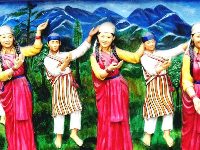 Finding New Frontiers People Traditional Culture Traditional Clothing Sikkim Sikkim Traditional Dress Folk Culture Folk Dance Multi Colored Himalayan Culture Himalayan Village HimalayanDrifters Miles Away