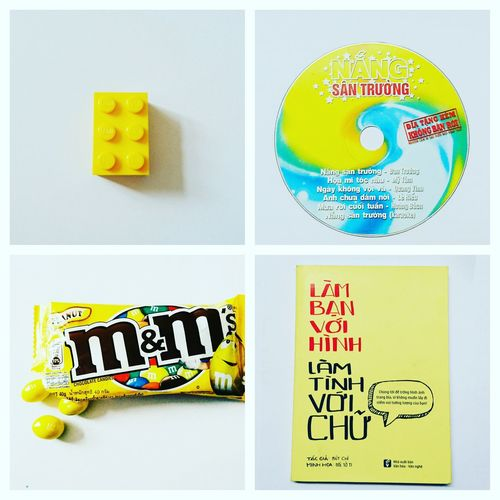 TakeoverMusic Vcd Text M&m Chocolate Book LEGO Relaxing Stuff Video Compact Dics Yellow