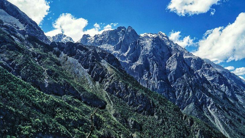 Yulong Shan Jade Dragon Snow Mountain Mountain EyeEm China China Yunnan Lijiang Blue Sky Outdoors ASIA