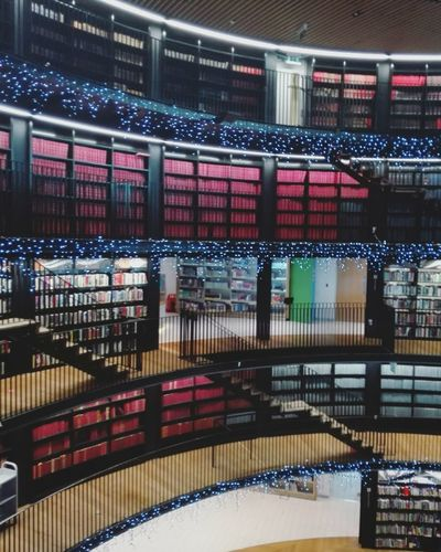 The library Illuminated Indoors  No People Travel Destinations Tourism Photography Huawei Europe City Architecture Birmingham Library Birmingham, UK