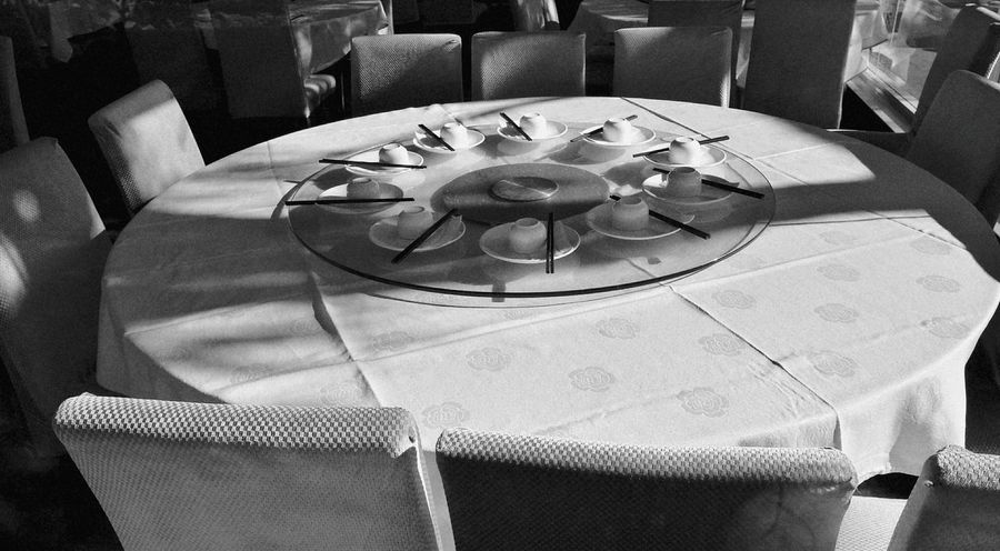 Monochrome table set EyeEmNewHere Auckland Minimalist Aesthic Place Setting Tablecloth Party - Social Event Plate Table Arrangement Napkin Chair Eating Celebration The Still Life Photographer - 2018 EyeEm Awards