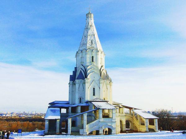 Followme Москва храм небо снег красота осень ноябрь