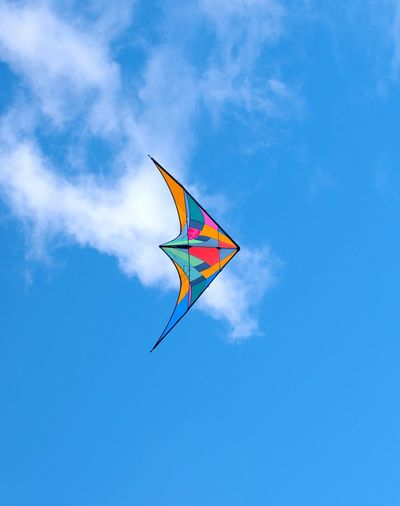 kite in sky Leisure Activity Outdoors Outdoor Play Equipment Playing France Stay Out Flying Child Multi Colored Blue Childhood Kite - Toy Wind Sport Sky Kite Mid-air