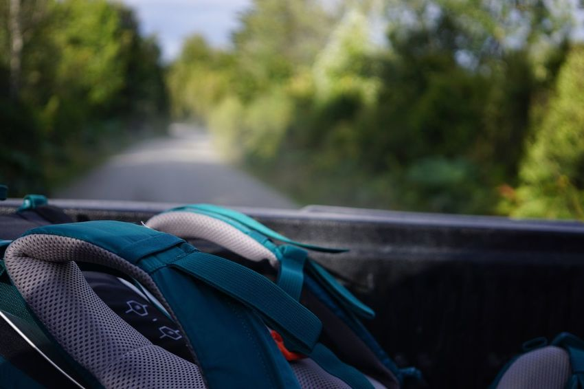 So I left everything and took my backpack to see the world Focus On Foreground Backpack Backpacking Car Movement Roadtrip Road Cars The Purist (no Edit, No Filter) Sony A6000 Outdoors Close-up Day No People Chile