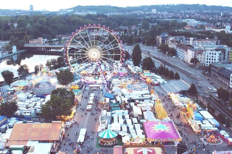 Oktoberfest Stuttgart Germany Ferris Wheel High Angle View Ferris Wheel City Life Night Lights Multi Colored Discover The World Bucket List Adventure Awaits Europe EyeEm Best Shots Travel Traveling
