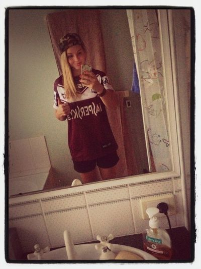 Tonights apparel. Go manly! :)