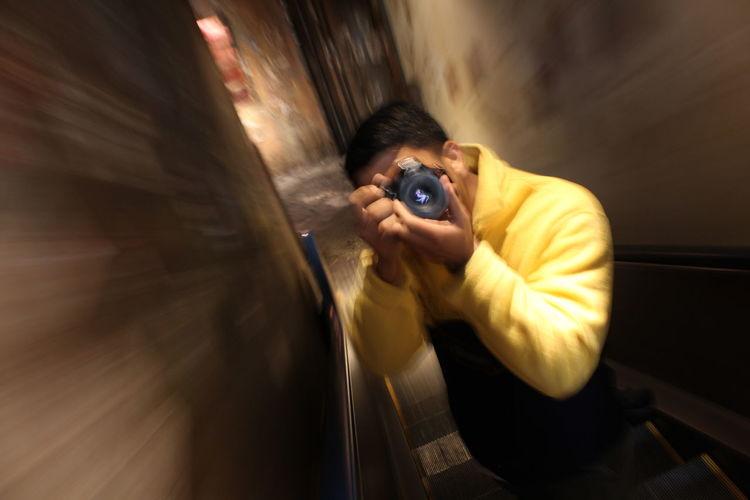 ISO Japan Arcade Escalator Photographer