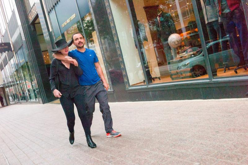 Austin Texas Candid Couple - Relationship Downtown Austin Fashion Public Romance Streetphotography