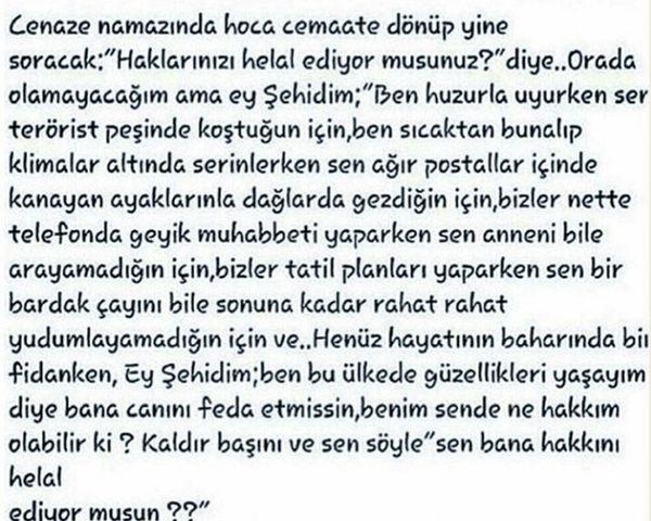 Sehitler Acimizbuyuk Sabirver Unutma Unutturma Turkiye... Hakkınıhelalet