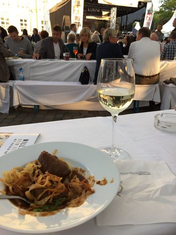 Stadtfest Wine Gourmet Party Oldenburg Germany Relaxing Sunny Wein