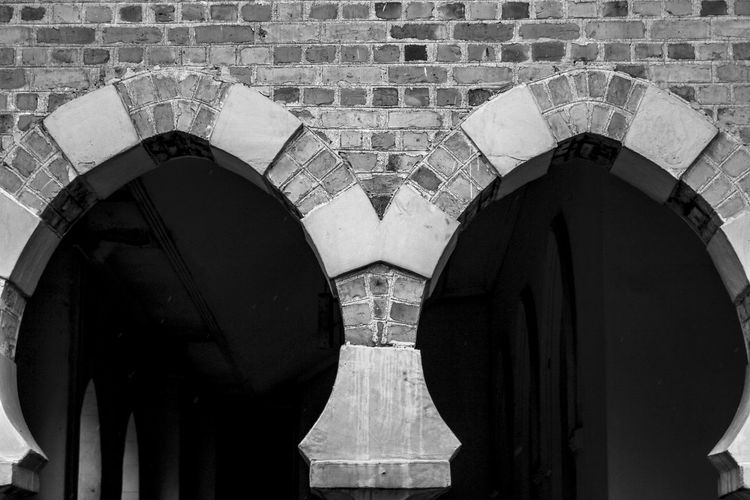 Arch Architectural Feature Architecture Black & White Black And White Blackandwhite Brick Arch Brick Wall Building Exterior Built Structure City Life Façade Modern Personal Perspective Tourism Monochrome Photography