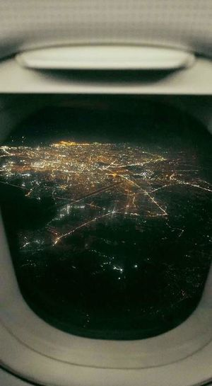 Cityscape Urban Skyline Street Light Travel Destinations Nightlife Air Plane Airplane Shot