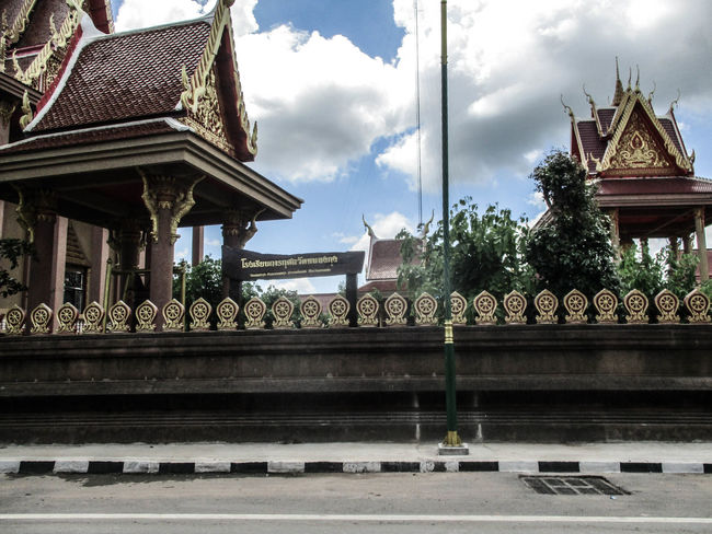 Khon Kaen,Thailand Architecture Built Structure Sky Cloud - Sky Day Building Exterior Travel Destinations Photograph Photographing Adult One Person Adults Only City Yellow Taxi Thailand🇹🇭