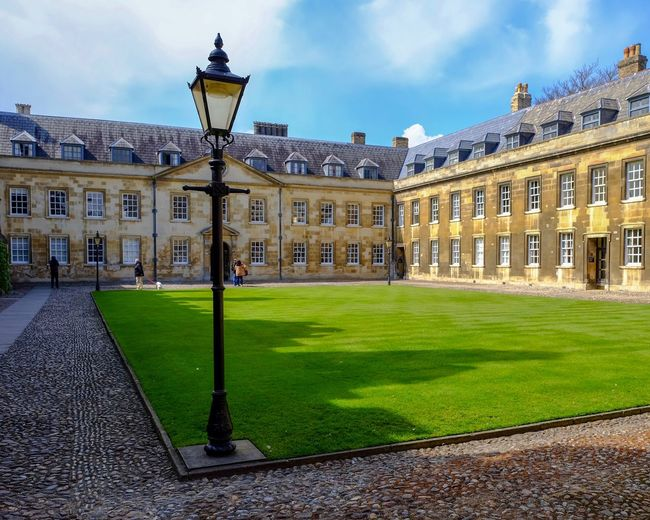 british Building Exterior Built Structure Architecture Sky Grass Nature Lighting Equipment Building Street Light History The Past Cloud - Sky Travel Destinations Day Outdoors Architectural Column