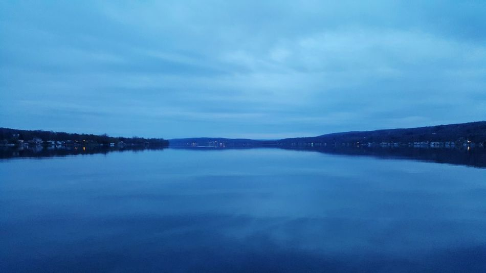 Unedited The Purist Keuka Lake Dusk Sky Lake View Blue Reflections In The Water No People Finger Lakes Of Western New York Landscape_Collection Colour Of Life Miles Away Long Goodbye The Great Outdoors - 2017 EyeEm Awards Neighborhood Map Been There. Perspectives On Nature