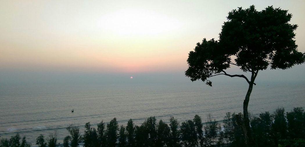 Sunset Sea Mountain Sea View Beautiful View Himchori Beautiful Bangladesh On The Road