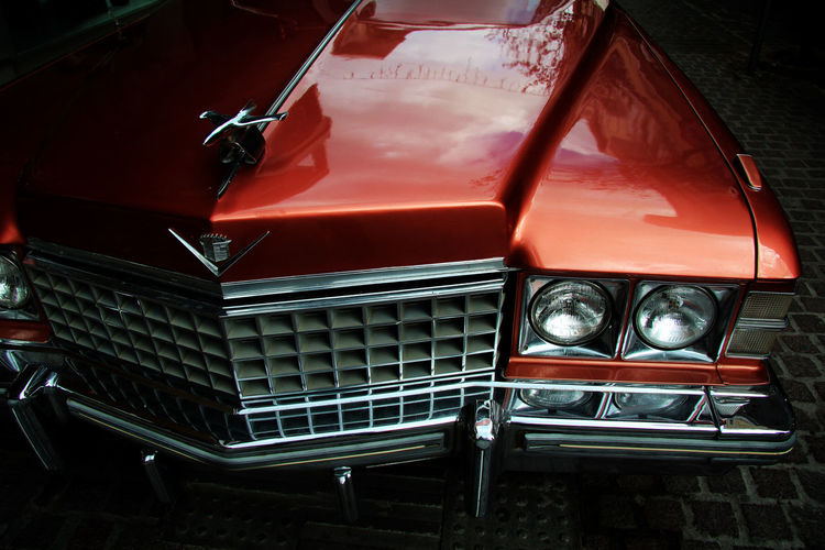Cadillac Car Color Colour Coupe De Ville Day No People Outdoors Perfect Reflection Shine Shining Sky Transportation