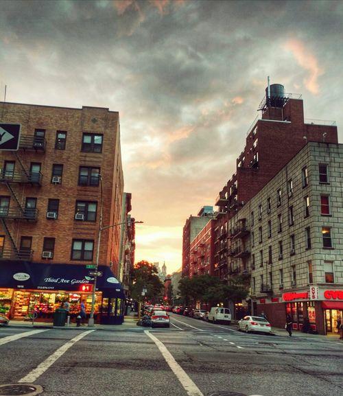Street Scene New York Sunset