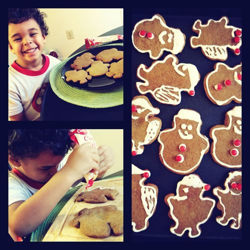 Making Gungerbread cookies with my baby boy