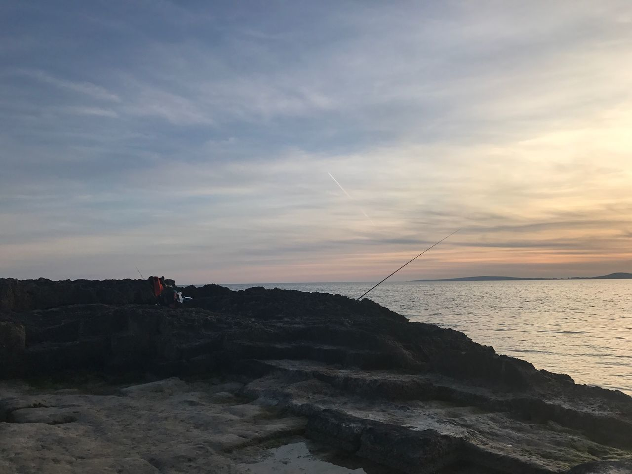sky, sea, cloud - sky, water, beauty in nature, scenics - nature, rock, rock - object, solid, tranquility, sunset, tranquil scene, nature, horizon, horizon over water, non-urban scene, land, beach, outdoors