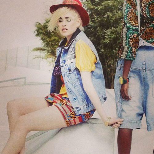 Yeaaah meine Pali Jeansweste im Blondemagazine ??? FKIDS