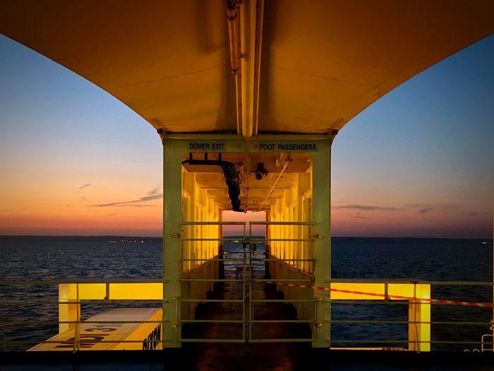 Fähre Dover-Calais Ferry Views Ferryboat Ferry Sea Sky Horizon Over Water Horizon Sunset Nature Railing Transportation No People