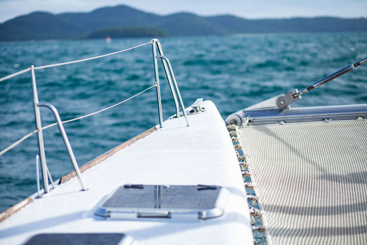 My Vacation Yacht Sea Water Nautical Vessel Transportation Mode Of Transportation Nature Sailing Day Travel No People Sunlight Rope Trip Holiday Vacations Mountain Focus On Foreground Outdoors Boat Deck Yacht Sailboat Luxury