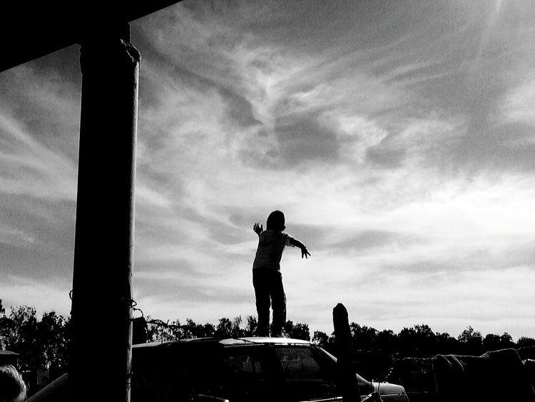 Sky Cloud - Sky People Blackandwhite Boy