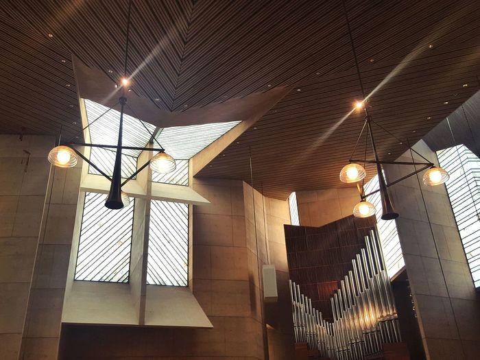 Interior geometry Modern Architecture Interior Design Geometric Shape Illuminated Hanging Ceiling Lighting Equipment Chandelier Hanging Light