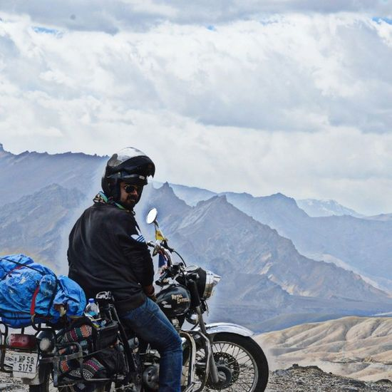 Guts over fear . Leh Royalenfield Bullet Biker Live2ride MotorcycleDiaries Ladakh NH1 Himalayas Wanderlust
