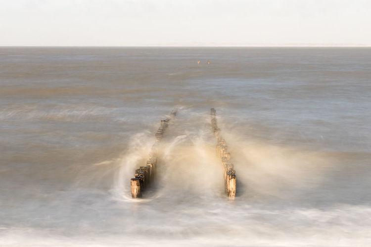 Long exposure of breakwater on Panoramaweg, Groede EyeEm Market © ND Filter Long Exposure Sea Beach Water Sony A77ii Motion Breakwater Zeeuws Vlaanderen Zeeland  The Netherlands