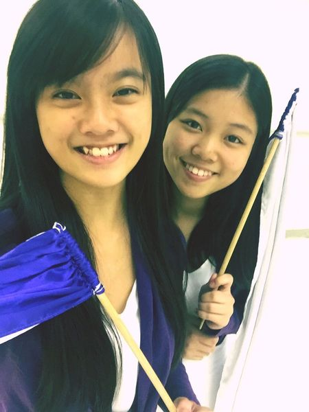 Let's dance for our last chopstick banner performence for God❤️💜👭 Throwback Selfie ✌ Dancing Onelasttime All In For GOD