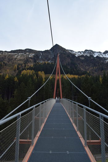 Golden Gate Bridge Connection Footbridge Mountain Outdoors Suspension Bridge Saalbach Hinterglemm